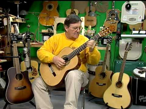Malaguena played on a Valencia VG195  classical guitar