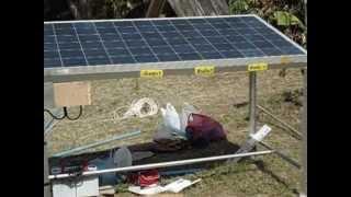 solar cellกับปั๊มชักและแบตเตอรี่
