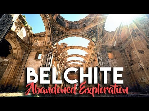 INCREDIBLE ABANDONED CATHEDRALS IN BELCHITE | TRAVEL VLOG SPAIN