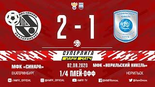 Париматч Суперлига 1 4 плей офф Синара Норильский никель 2 1 Матч 2