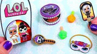 10 DIY Miniature Halloween LOL SURPRISE Cosmetics or Makeup || BARBIE DOLL HACKS