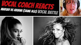 Honest Vocal Coach Reacts to Mariah Carey Vs Ariana Grande SAME AGE Vocal Battle