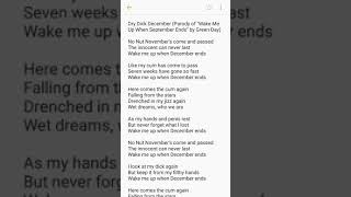"""Download Dry Dick December (Parody of """"Wake Me Up When September Ends"""" by Green Day)"""