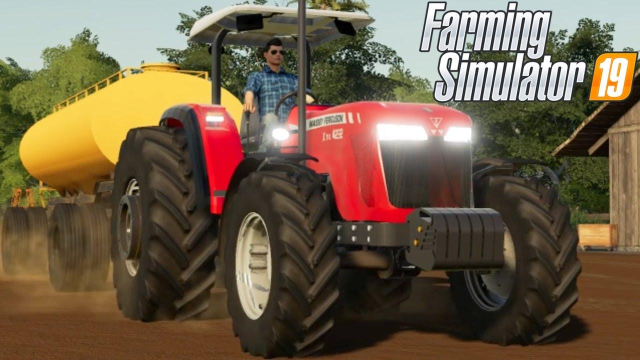 TRANSPORTANDO ÁGUA PARA AS OVELHAS | Farming Simulator 19 | Estância São Carlos - Episódio 41