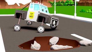 Learn for Children with Max the Police Car for Kids - Police Car City Cartoon for Children