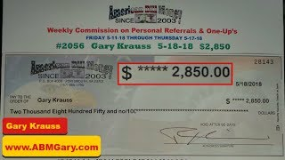 American Bill Money Checks - My Weekly Check May 18th 2018 - $2,850 - American Bill Money Pays