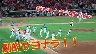 菊池涼介が決めた!!超劇的で超おもしろいサヨナラ勝利で大興奮!!