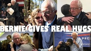 BERNIE SANDERS GIVES REAL HUGS!7/8/16