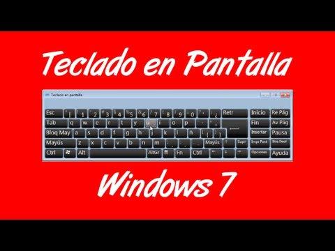 Como activar el teclado en la pantalla en Windows 7