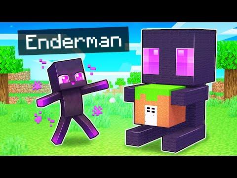My Enderman's SECRET Base In Minecraft!