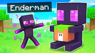My Enderman's SECRET Base In Minecraft!