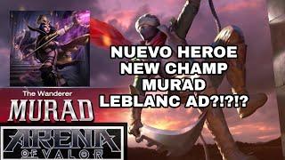 Arena of Valor Strike of kings Nuevo Heroe MURAD NEW HERO LEBLANC AD?!?!