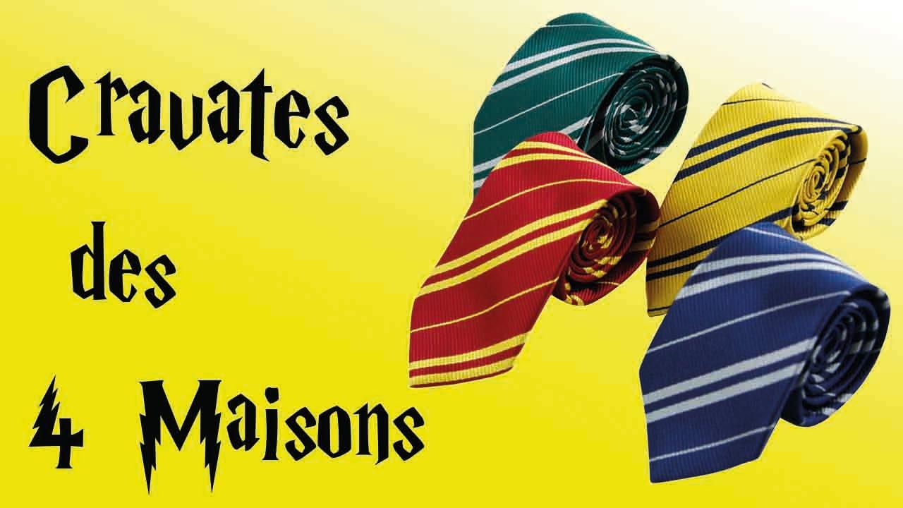 grande vente vente pas cher prix le plus bas Cravates Harry Potter pas cher : Serdaigle, Serpentard, Poufsouffle et  Gryffondor