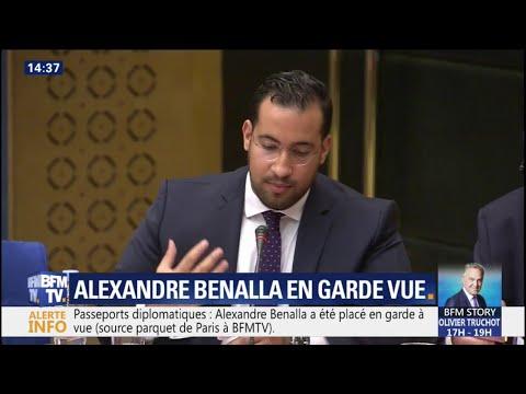Passeports diplomatiques: Alexandre Benalla placé en garde à vue