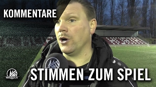 Die Stimmen zum Spiel (FC Hürth - Fortuna Köln, 2. Runde, Bitburger-Pokal 2015/2016) | RHEINKICK.TV