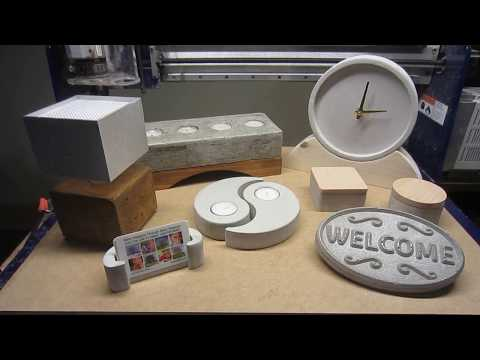 CNC Router Projects- Start to Finish: Working with Concrete & Cement Products