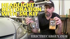 Restoring Headlights with 3M Kit -EricTheCarGuy