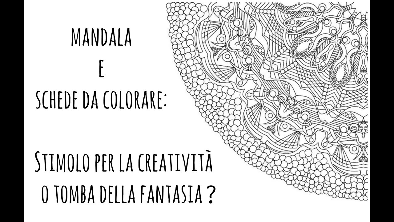 mandala e schede da colorare sprone per la creativit o