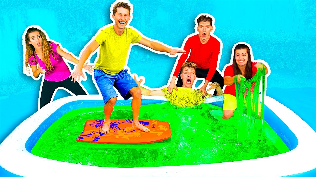 10,000 POUNDS OF SLIME IN BATH CHALLENGE! #1