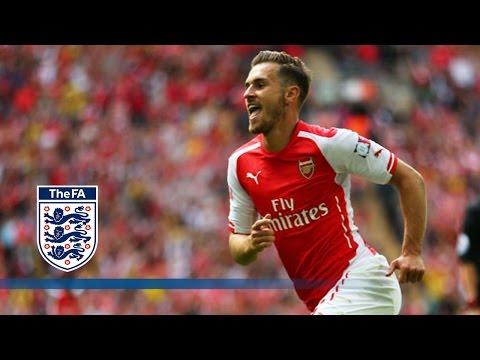 Ramsey goal - Arsenal v Man City 3-0   Goals & Highlights