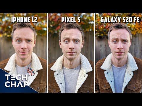 iPhone 12 vs Google Pixel 5 vs Samsung Galaxy S20 FE - CAMERA Comparison!   The Tech Chap
