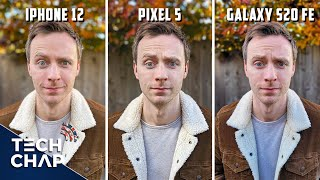 iPhone 12 vs Google Pixel 5 vs Samsung Galaxy S20 FE - CAMERA Comparison! | The Tech Chap