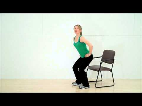 Core Strength for Cyclists: Chair Squat from Tom Danielsons Core Advantage