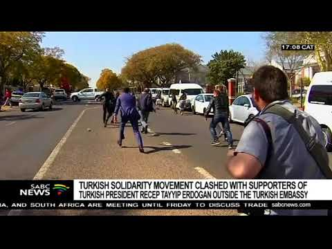 Violence outside the Turkish Embassy in Pretoria: Sipho Stuurman