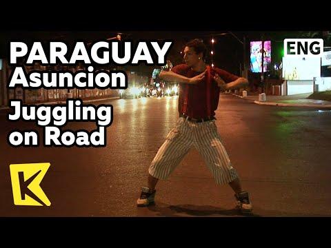 【K】Paraguay Travel-Asuncion[파라과이 여행-아순시온]도로 위 공 묘기/Juggling on Road/Performance