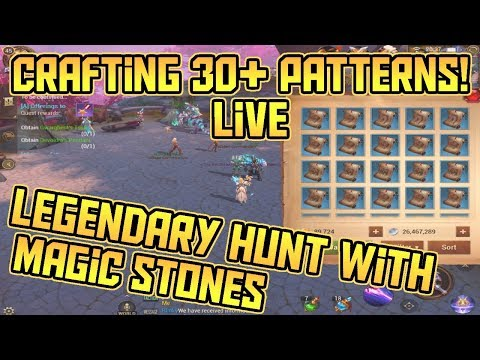 30+ Legendary Blueprint Hunt WITH Magic Stones! LIVE Test! | Crusaders of Light