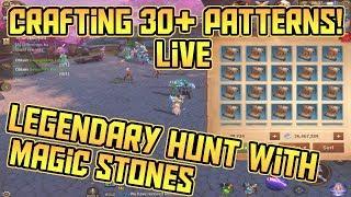 30+ Legendary Blueprint Hunt WITH Magic Stones! LIVE Test!   Crusaders of Light