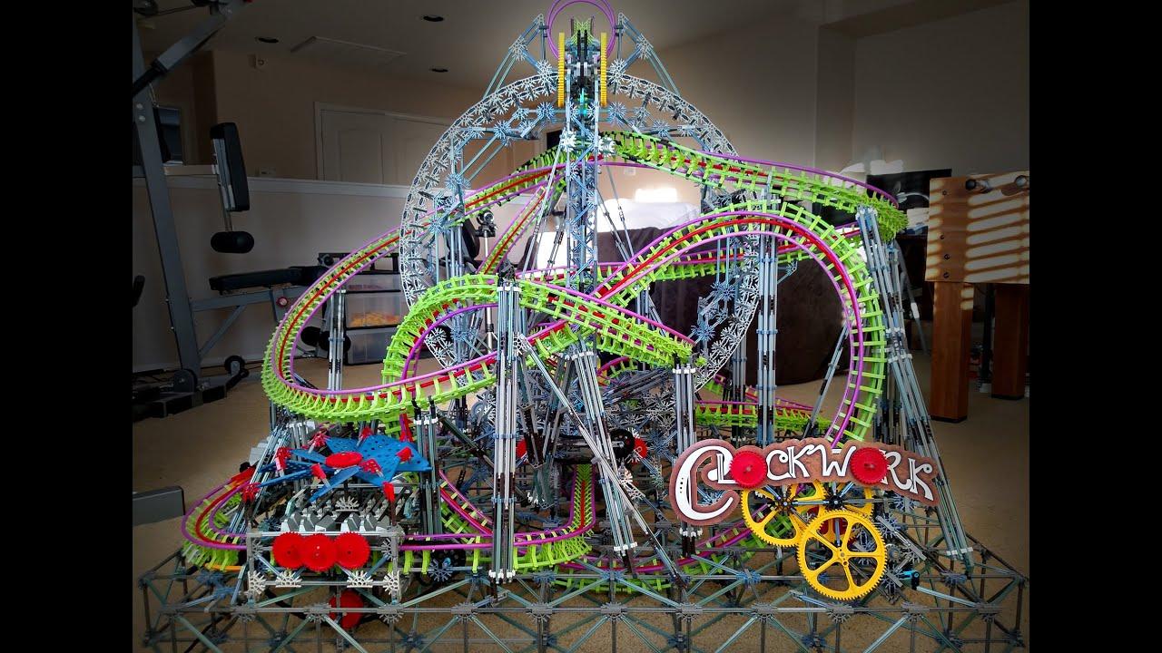 clockwork k u0027nex roller coaster youtube