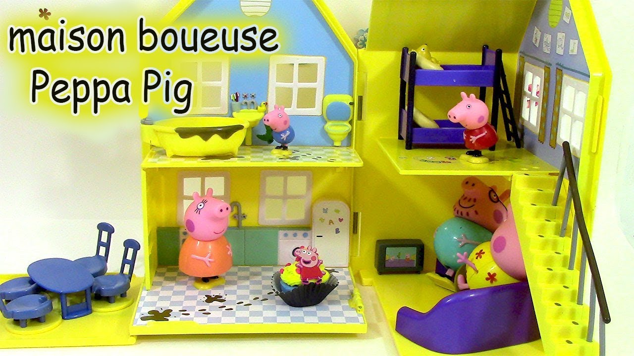 la grande maison boueuse de peppa pig jouet play doh muddy puddle deluxe playhouse