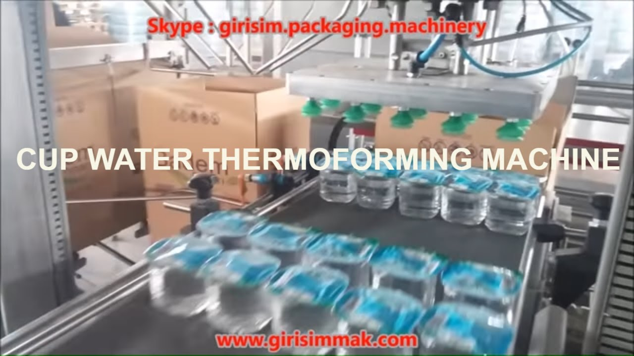 Thermoforming Cup Water Filling Sealing Packaging Machine