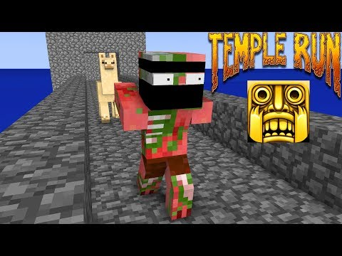 Monster School : TEMPLE RUN CHALLENGE - Minecraft Animations