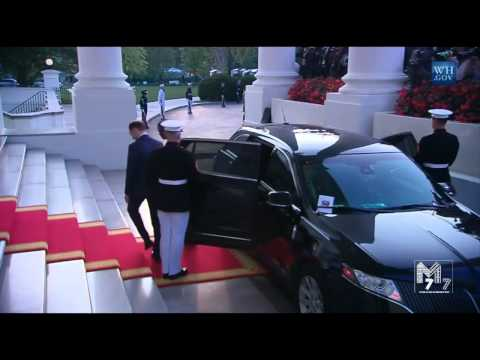 Togo President Faure Gnassingbé arrives at the White House Diner
