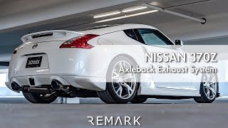 remark nissan 370z v1 axle back exhaust system