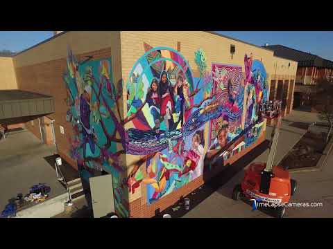1000 Square foot Mural Installation