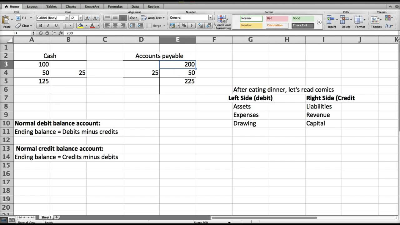 How To Calculate Ending Balance Of T Account