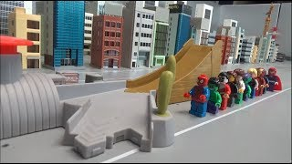 Spiderman 10 Super Heroes Jump Toys Play 스파이더맨 10명 슈퍼히어로 점프 장난감 놀이