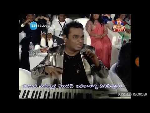 AR Rahman Playing keyboard