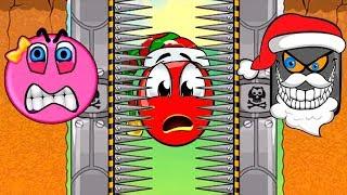 МУЛЬТИК - КРАСНЫЙ ШАРИК и Розовый Шар Девочка. Нападение КВАДРАТОКЛАУСА 7. Red Ball для детей!