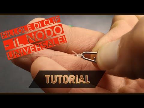 Nodo moschettone spinning o sgancio rapido - il nodo universale per gli occhielli - clipangler