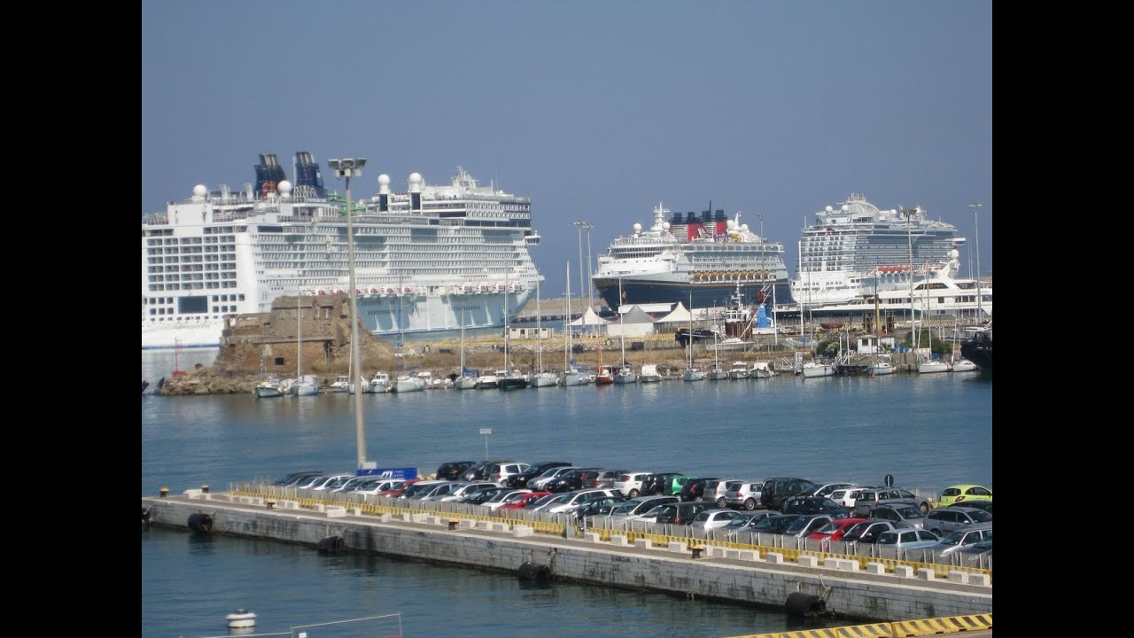 Dcl disney magic at civitavecchia rome italy passing by in a bus from an adjacent ship - Getting from civitavecchia port to rome ...