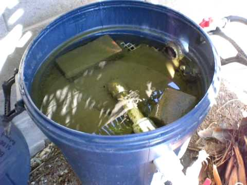 Pond homemade bio filter part 5 youtube for Best homemade pond filter media
