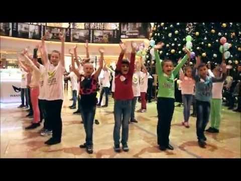 Видео: Новогодний танцевальный флешмоб в торговом центре