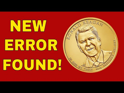 New Error Found On 2016 Ronald Reagan Presidential Dollar Coin Worth Money! Valuable Error Coins!