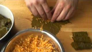 Виноградная долма (Лозови сърми) - булгур, рис Калроуз