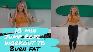 Easy 10 minute workout to lose weight jumping rope