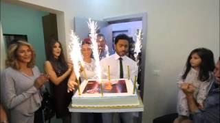 فيديو - بصحبة تامر حسني ونانسي عجرم.. كاظم الساهر يحتفل بعيد ميلاده